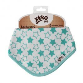 XKKO Bambusový slintáčik Little Stars Turquoise (1ks)