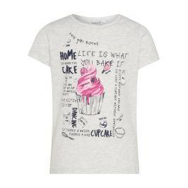 Name it Dievčenské tričko s Muffin - svetlo šedé
