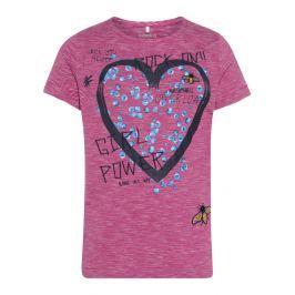 Name it Dievčenské tričko so srdcom - ružové