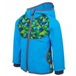 Unuo Chlapčenská softshellová bunda s fleecom Triangel - modrá