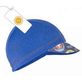 Unuo Chlapčenská čiapka so šiltom Mačka a pes UV 50+ - modrá