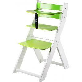 WOOD PARTNER Detská rastúca stolička LUCA biela / zelená