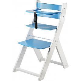 WOOD PARTNER Detská rastúca stolička LUCA biela / modrá
