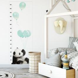 Dekornik Samolepka na stenu - detský meter Panda mätová, 160x60 cm