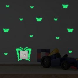 Walplus Svietiaca samolepka na stenu Motýliky