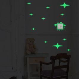 Walplus Svietiaca samolepka na stenu Hviezdy a mimozemšťania