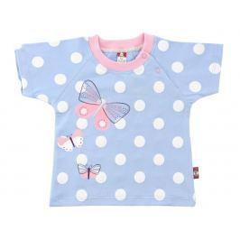 2be3 Dievčenské tričko Motýľ - modré