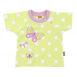 2be3 Dievčenské tričko Motýľ - žlté