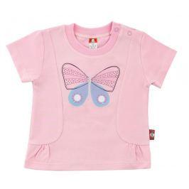 2be3 Dievčenské tričko Motýľ - ružové