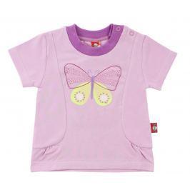 2be3 Dievčenské tričko Motýľ - tmavo ružové
