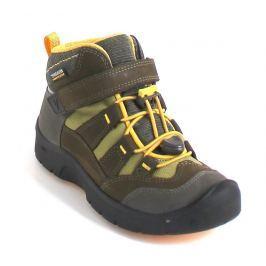 Keen Chlapčenské outdoorové topánky Hikeport Mid WP - hnedo-žlté