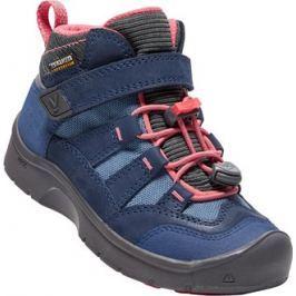 Keen Dievčenské outdoorové topánky Hikeport Mid WP - modré