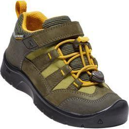 Keen Chlapčenské outdoorové topánky Hikeport WP - hnedo-žlté