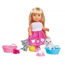 Simba Bábika Evička s psíkom a mačičkou