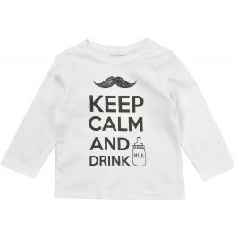 Garnamama Detské tričko Keep Calm - biele