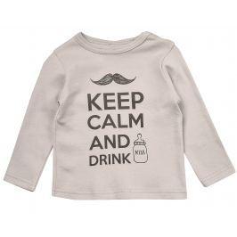 Garnamama Detské tričko Keep Calm - béžové