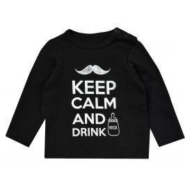 Garnamama Detské tričko Keep Calm - čierne