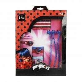 Disney Brand Dievčenská súprava vlasových doplnkov Ladybug - červená