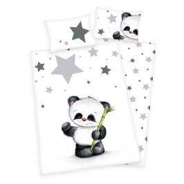 Herding Detské obojstranné obliečky Panda, 100x135 cm / 40x60 cm