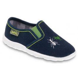 Befado Chlapčenské papučky s mravcami Flexi - tmavo modré