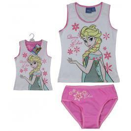 E plus M Dievčenské set tielka a nohavičiek Frozen - bielo-ružový