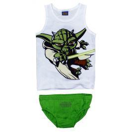 E plus M Chlapčenský set tielka a slipov Star Wars - bielo-zelený