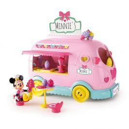 Mikro hračky Minnie auto cukráreň 25 cm na batérie