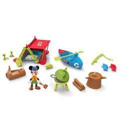 Mikro hračky Mickey Mouse sada na piknik s kĺbovou figúrkou