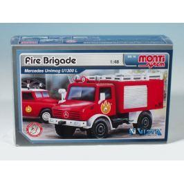 Vista Stavebnica Monti 16 Fire Brigade Mercedes Unimog 1:48
