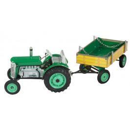 KOVAP Traktor Zetor s prívesom zelený na kľúčik kov 28 cm Kovap v krabičke