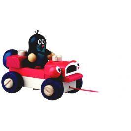 Detoa Krtko a žmurkajúce auto drevo ťahacie 14 cm