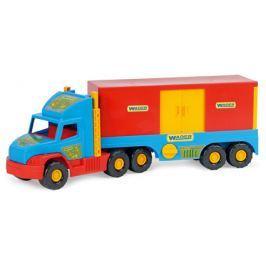 WADER Auto Super Truck kontajner plast 78 cm - modrý