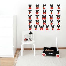 Housedecor Samolepka na stenu Abeceda Mickey Mouse