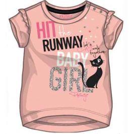 19620ffb373f Detail · Primigi Dievčenské tričko s mačkou - svetlo ružové