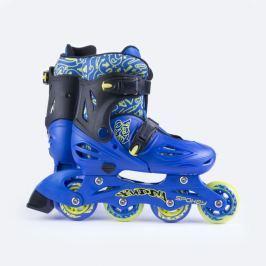 Spokey BUDDY Kolieskové korčule modré ABEC1 Carbon veľ. 30-33