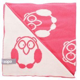 ZOPA Detská deka Little Owl, Redwine