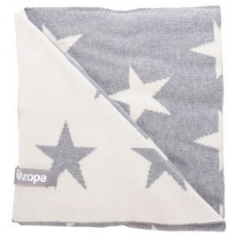 ZOPA Detská deka Stars, Grey