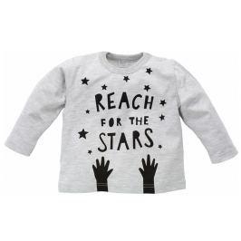 Pinokio Detské tričko Happy day - šedé