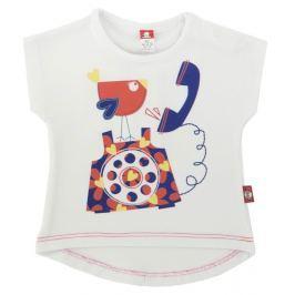 2be3 Dievčenské tričko Ptáček - biele