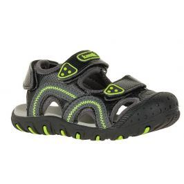 Kamik Chlapčenské sandále SEATURTLE - čierno-zelené