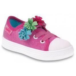 Befado Dievčenské tenisky s kvetinami FUNNY - ružové
