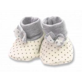 Lafel Dievčenské bodkované ponožky / capáčky Cat - béžové