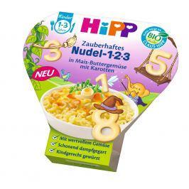 HiPP BIO Cestoviny 123 s kukuricou, zeleninou a mrkvou, 250g
