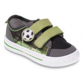 Befado Chlapčenské tenisky s futbalovou loptou - zeleno-šedé