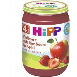 HiPP BIO Jablká s jahodami a malinami, 190 g