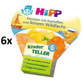 HiPP Zemiaky so zeleninou a jemným lososom, 6x250g