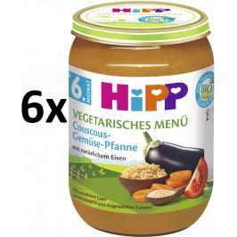 HiPP BIO Kuskus so zeleninou - vegetariánske menu, 6x190g