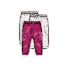 Minoti Dievčenské nohavice s čipkou - béžové