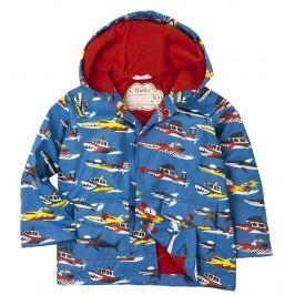 Hatley Chlapčenská bunda do dažďa s loďami - modrá