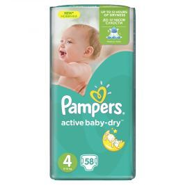 Pampers Active Baby Maxi 4, 58ks (7-14 kg) - jednorazové plienky